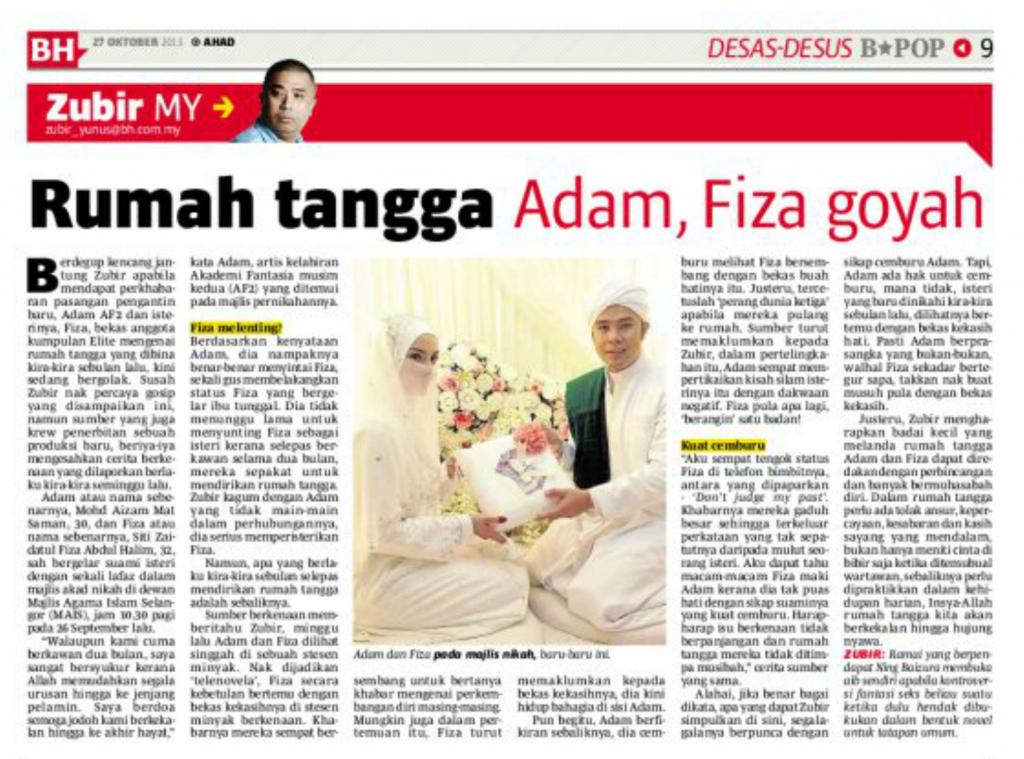 Baru Menikah, Rumah Tangga Adam Af dan Fiza Elite Goyah?