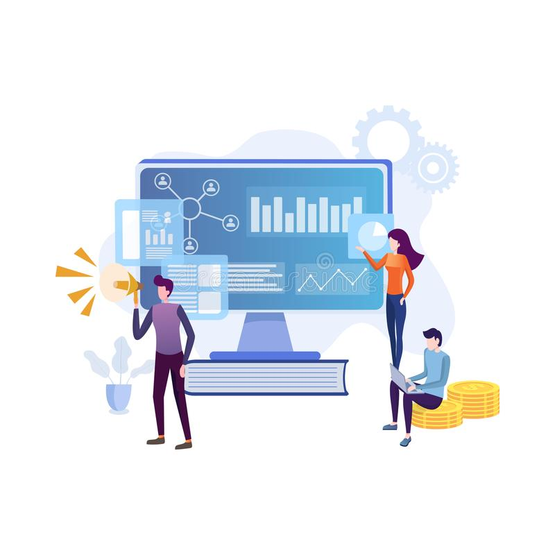 flat concept team specialists working digital marketing strategy landing page digital marketing digital technologies concept 159744898 - How To Build A Dynamic Digital Presence